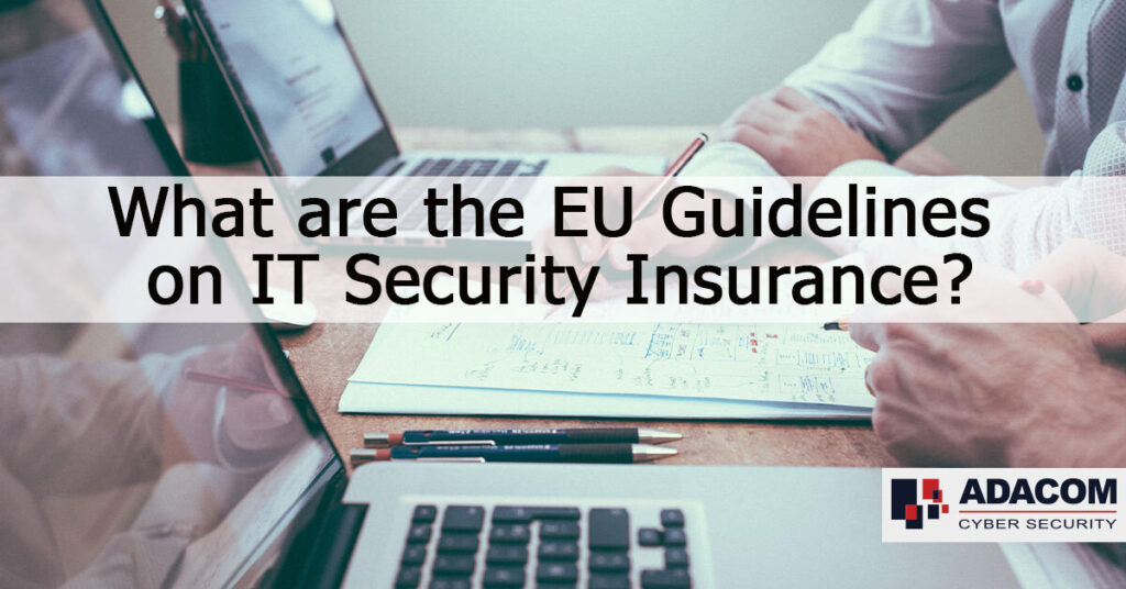 What are the EU guidelines on IT security insurance